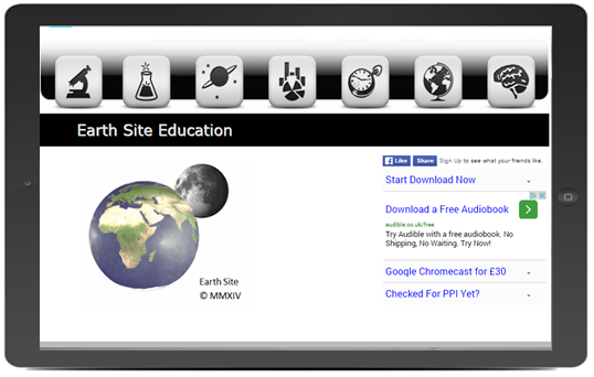 Earth Site Education Website Design